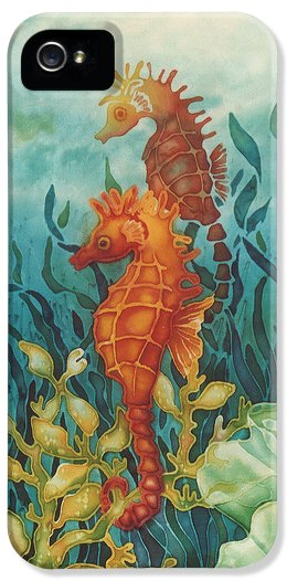 Deborah Younglao seahorse painting printed on phone case