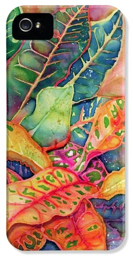 Deborah Younglao tropical foliage painting printed on phone case