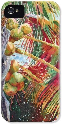Deborah Younglao coconut tree painting printed on phone case