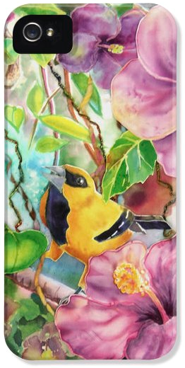 Deborah Younglao yellow oriole bird painting printed on phone case
