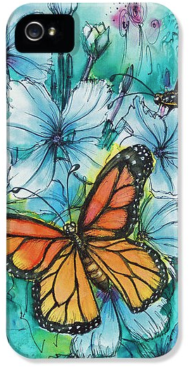 Deborah Younglao butterfly painting printed on phone case