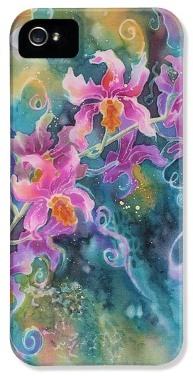 Deborah Younglao orchid flower painting printed on phone case