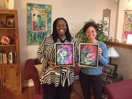 Deborah Younglao batik silk paintings