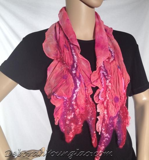 Deborah Younglao nuno felted silk scarf