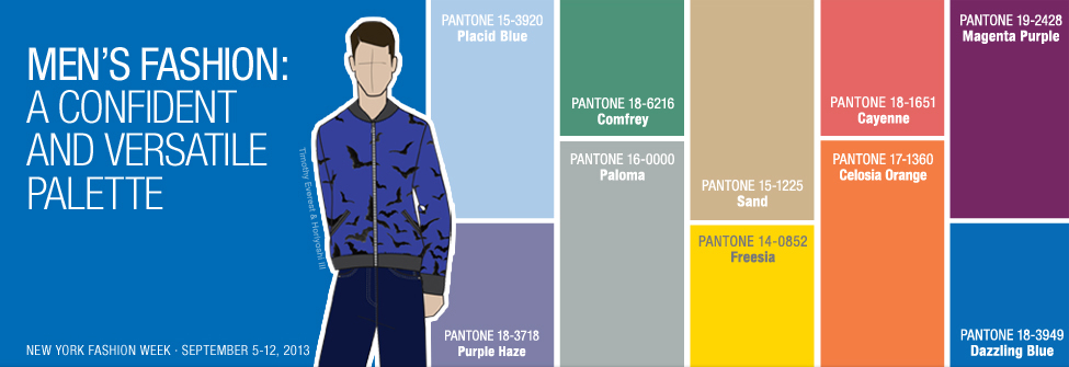 Pantone men's color report spring 2014