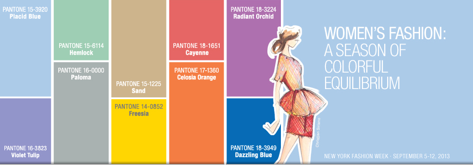 Pantone women's color report spring 2014
