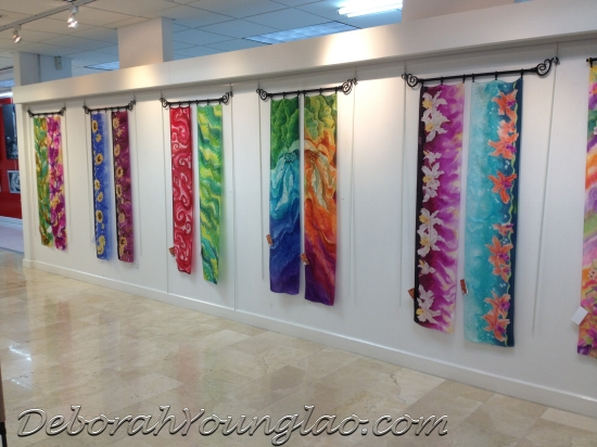 Deborah Younglao silk scarf exhibition