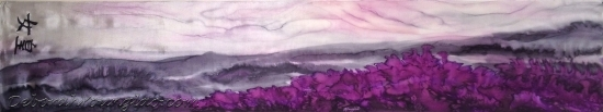 Deborah Younglao 'Color Me Regal' purple hand painted silk scarf