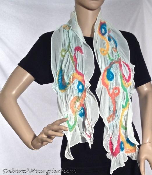 nuno felted chiffon scarf