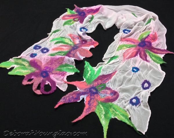 nuno felt chiffon silk scarf