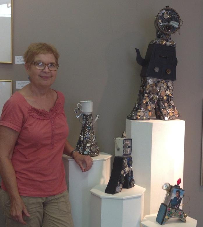 Susan Parrish and sculptures