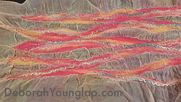 Deborah Younglao nuno felted chiffon scarf