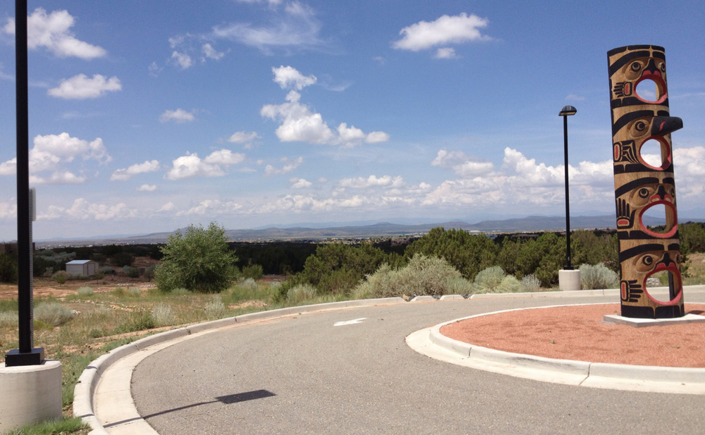 View from IAIA, Santa Fe NM