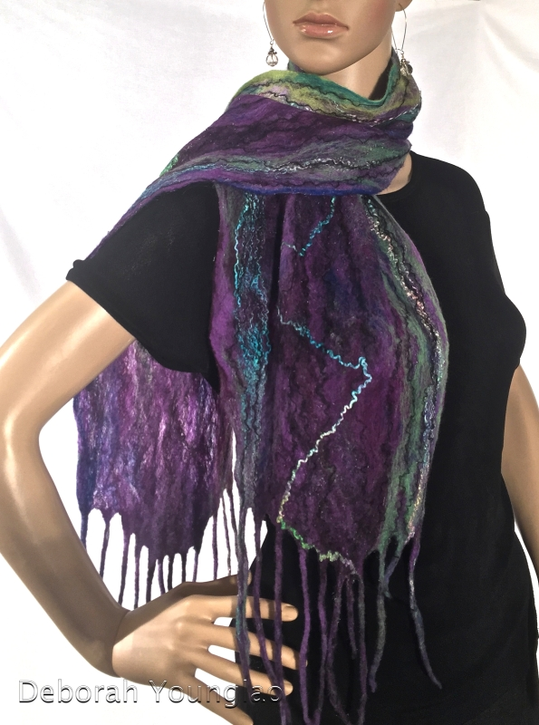 Cobweb Felted Scarf, 'A' side