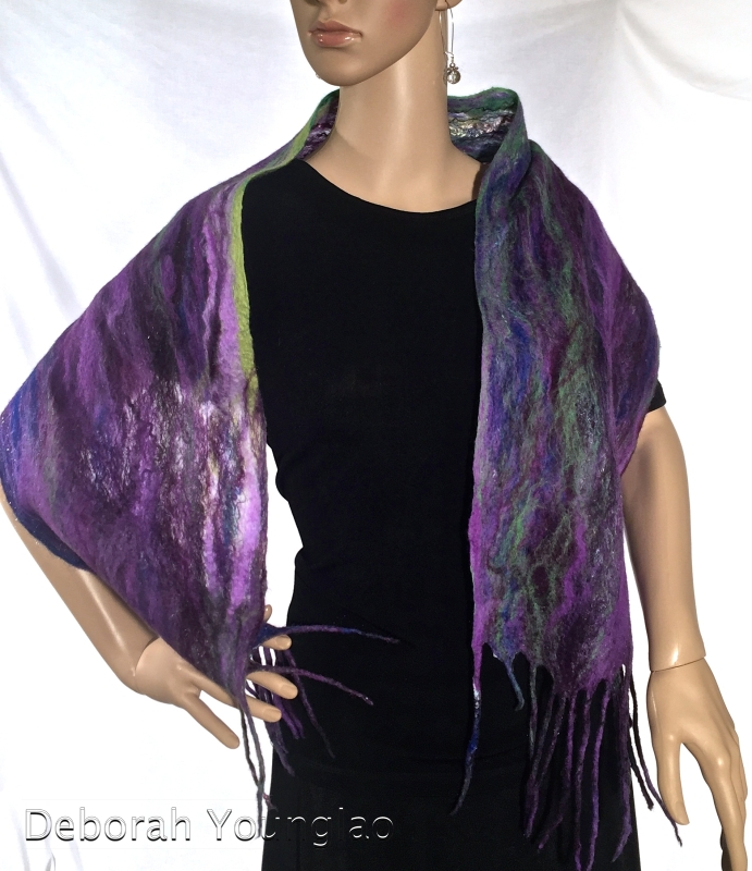 Cobweb Felted Scarf, 'B' side