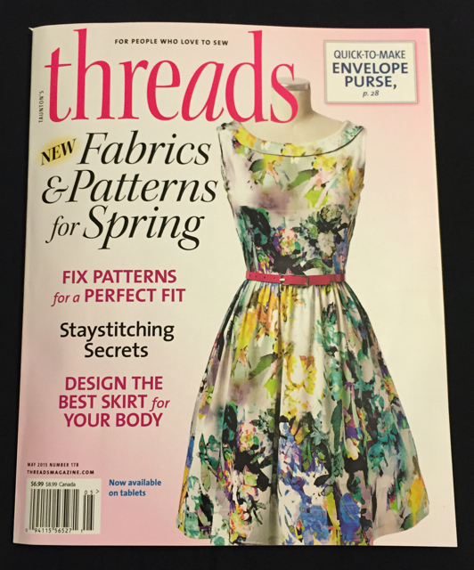 Threads magazine cover. Silk Painting article by Deborah Younglao inside.