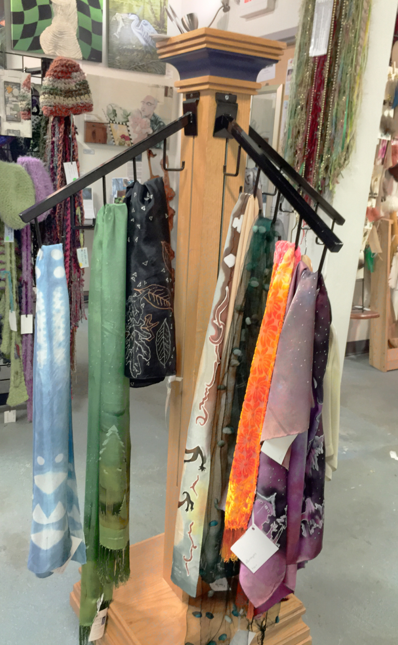Silk scarves at Joyful Jewel | Janine Maves