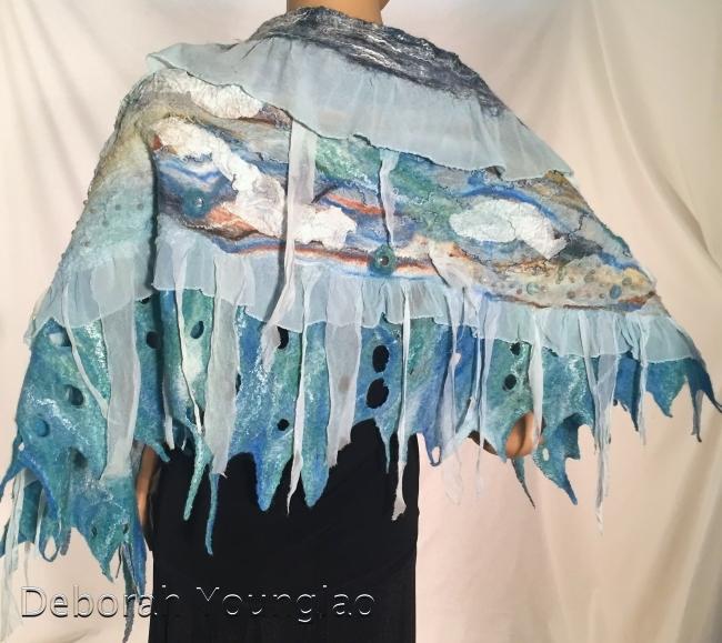 Nuno felted shawl | Deborah Younglao