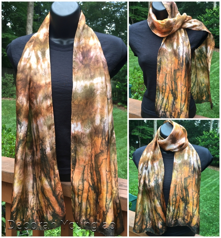 Silk scarf, hand dyed with Colorhue | Deborah Younglao