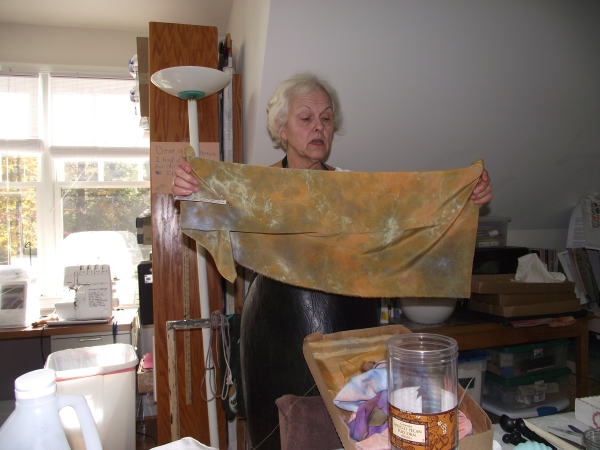 One of Marcia's parfait scarves