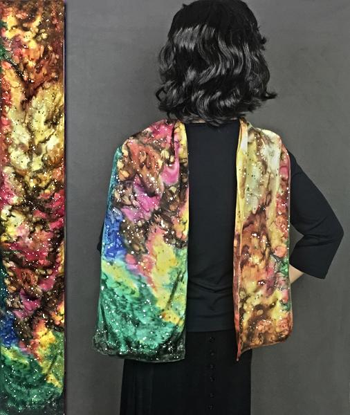 Cosmos silk scarf