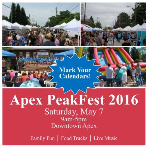 Apex peakFest postcard