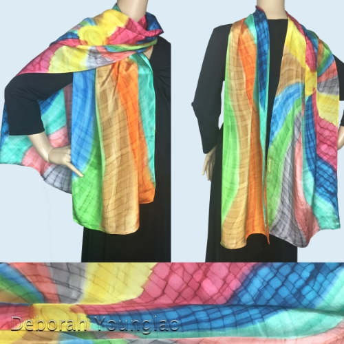 This scarf has all 10 colors - there's nothing it won't go with!