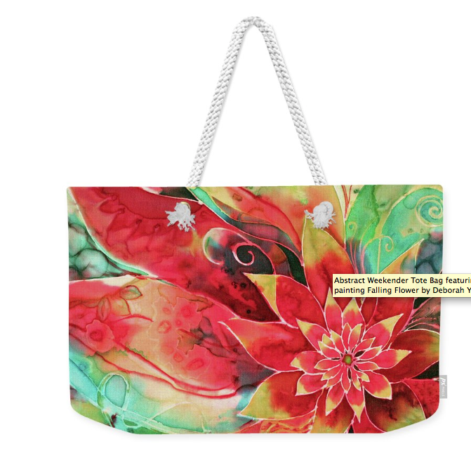 Tote bag with Tropical Flower art by Deborah Younglao