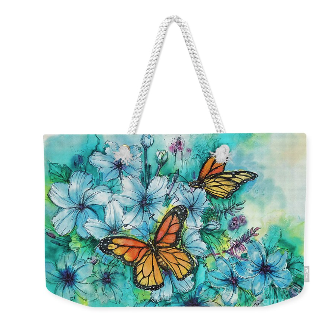 Tote bag with Butterfly art by Deborah Younglao