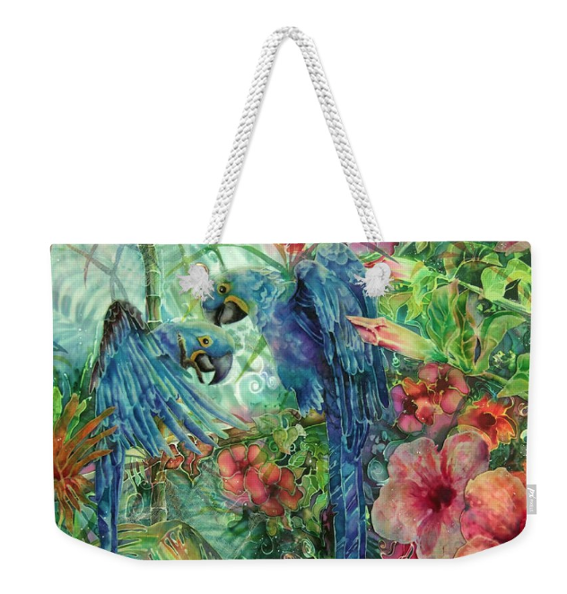Tote bag with Parrot art by Deborah Younglao
