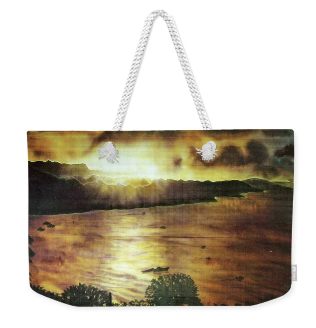 Tote bag with Seascape art by Deborah Younglao