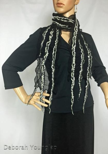 Nuno felted chiffon scarf | Deborah Younglao