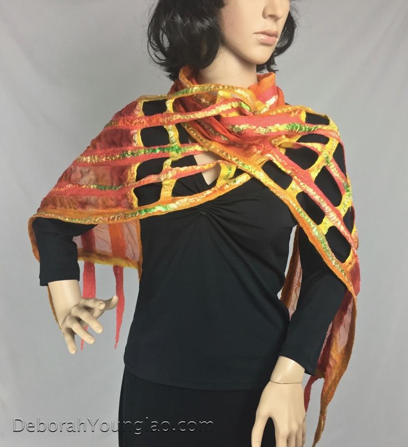 Nuno felted scarf | Deborah Younglao