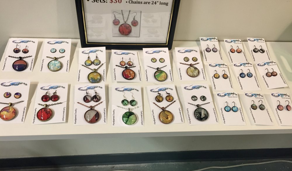 My jewelry display at The Joyful Jewel