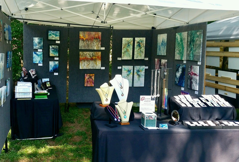 My booth at Art in the Garden