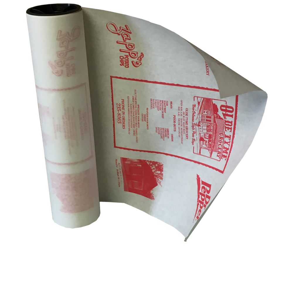 Printed 40# White Butcher Paper Roll