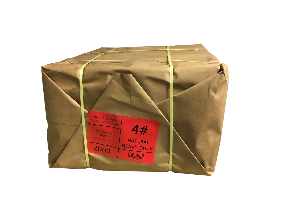 Paper wrapped bale of 4# Heavy Duty SOS bags