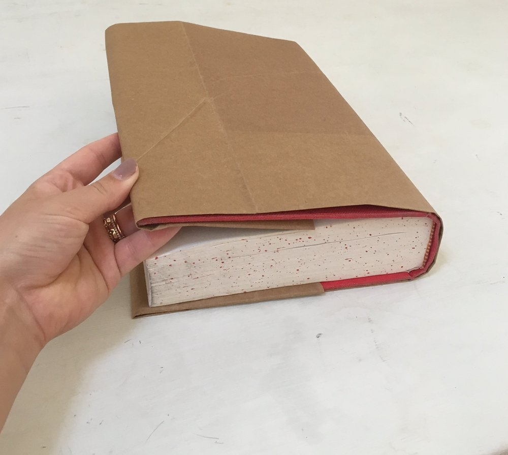 Brown paper bag book cover