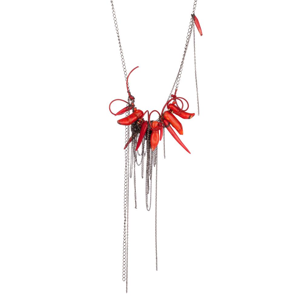 Chilli necklace silver