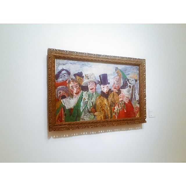 This evening @royalacademyarts bloggers evening for #Ensor ✨ Theatrical, freaky, detailed & quite wonderful. #RA #Art