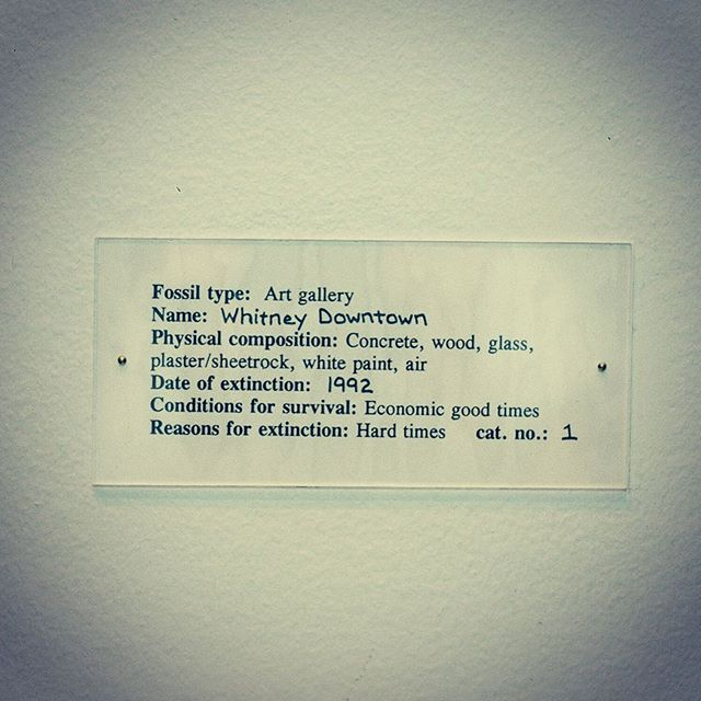 #nycartist #loisnesbittart #gallerylabels