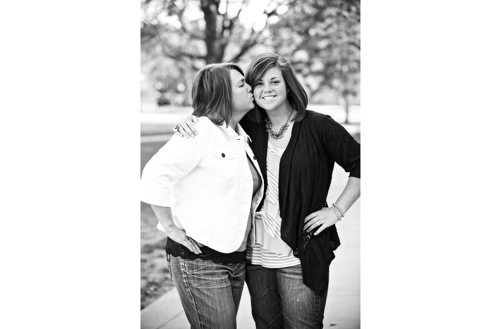Gentry and her mom Leslie