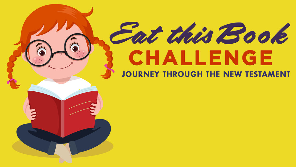 """We'd love to have you participate in the """"Eat this Book"""" challenge!"""