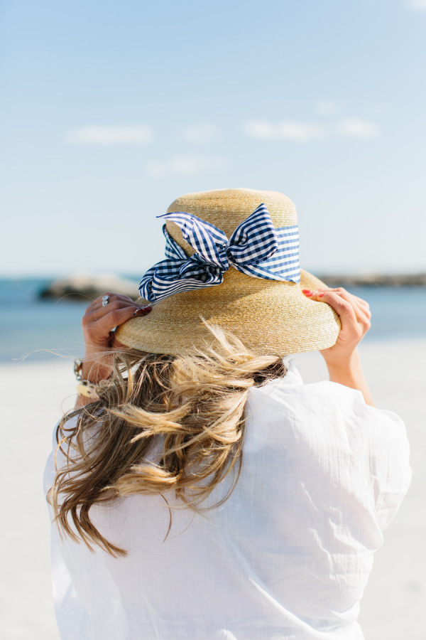 Photography:  Erin McGinn  | Hat:  Peter Beaton Studio  | Cover Up:  Target  | Bathing Suit:  J.Crew Factory  | Bracelet:  Watts in Maine