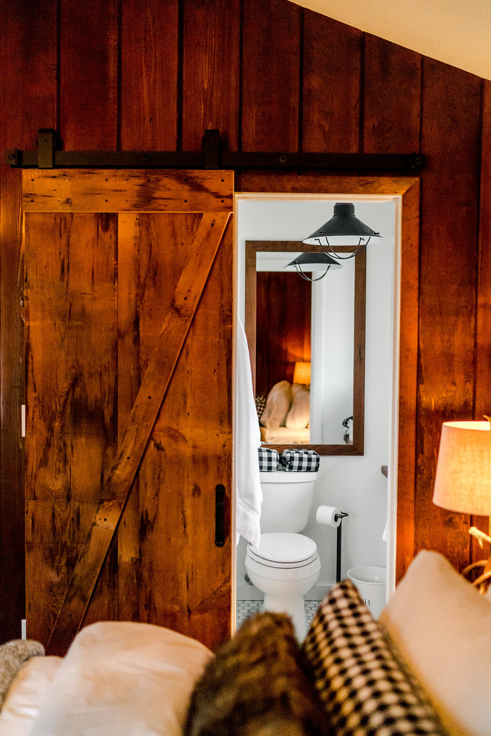 Vermont Ski House Design Bathroom