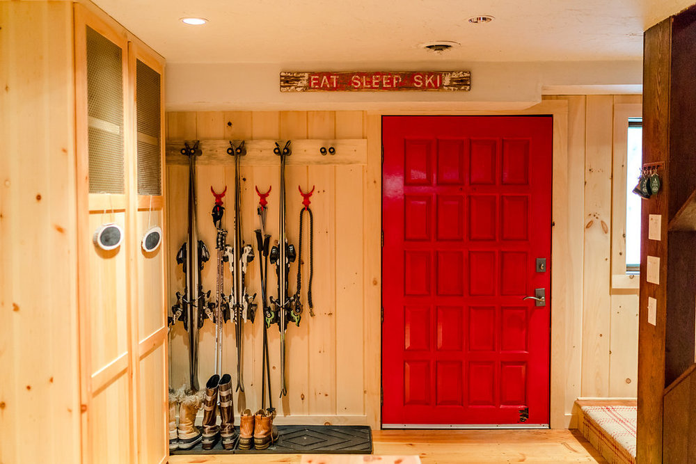 Vermont Ski House Design Lockers