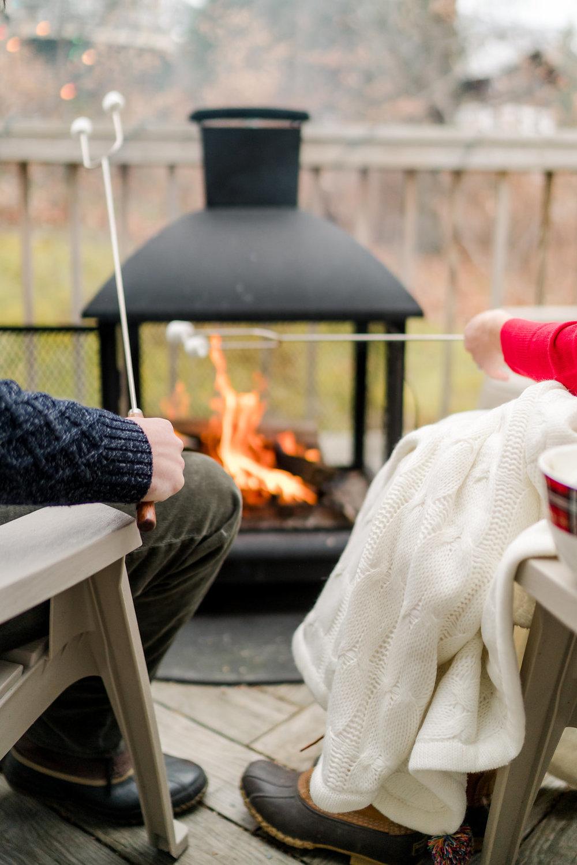 Vermont Ski House Cabin Firepit