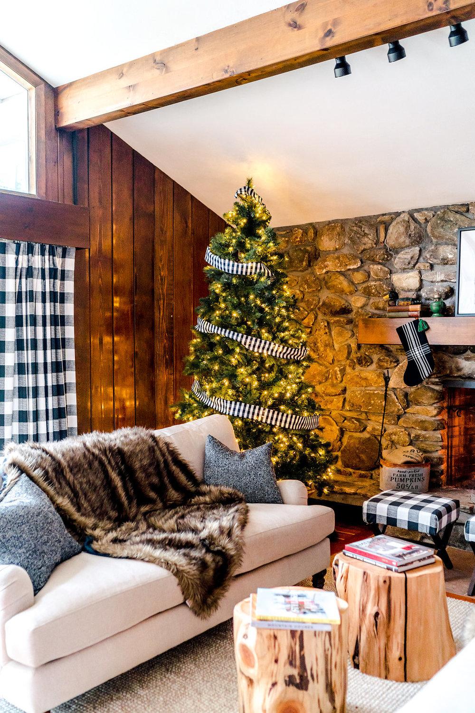 Vermont Ski Cabin Chalet Design Christmas