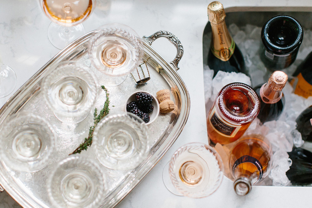 Champagne Bubbly Rosé New Years Eve Party | Styling: Abby Capalbo | Photography: Erin McGinn