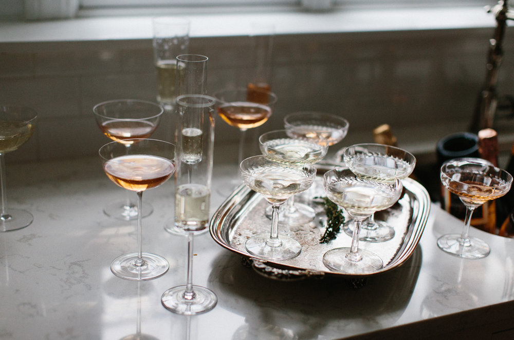 Champagne Bubbly New Years Eve Party | Styling: Abby Capalbo | Photography: Erin McGinn